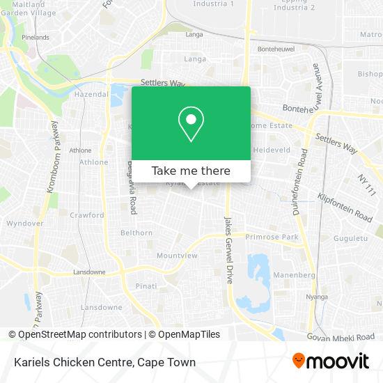 Kariels Chicken Centre map