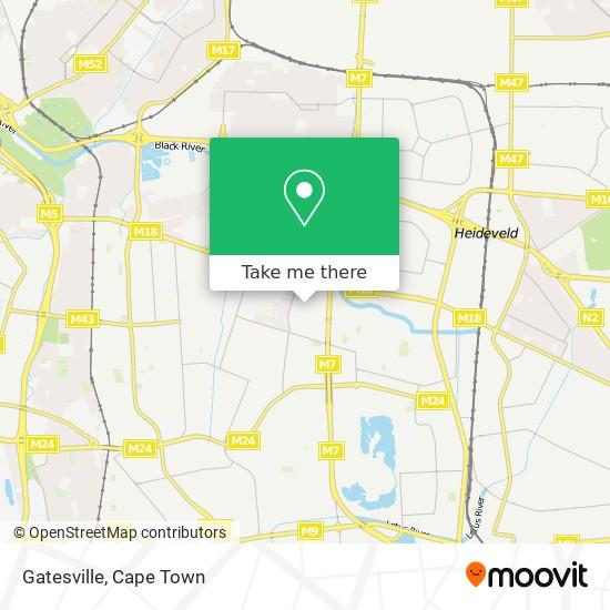 Gatesville map