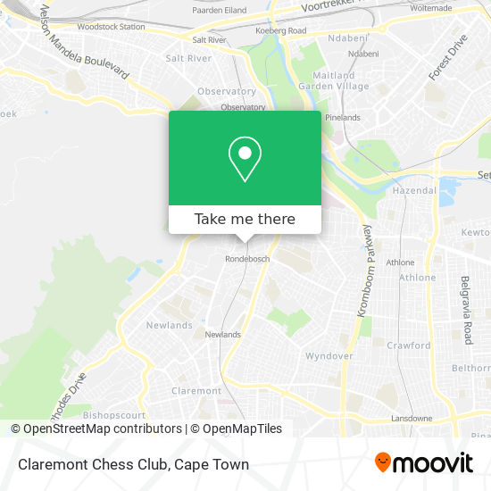 Claremont Chess Club map