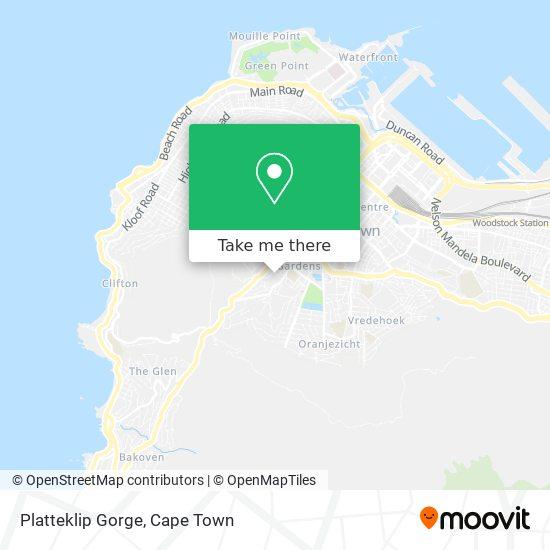 Platteklip Gorge map
