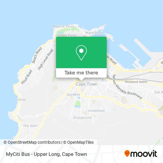 MyCiti Bus - Upper Long map