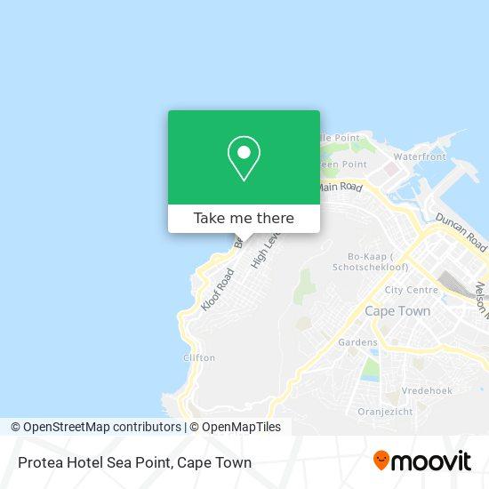 Protea Hotel Sea Point map