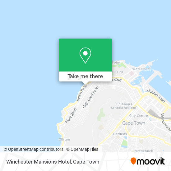 Winchester Mansions Hotel map