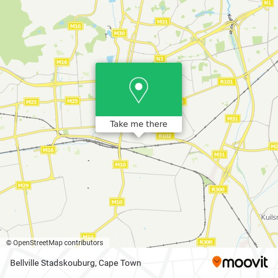 Bellville Stadskouburg map