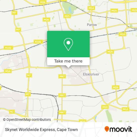 Skynet Worldwide Express map