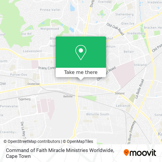 Command of Faith Miracle Ministries Worldwide map