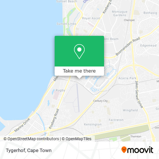 Tygerhof map