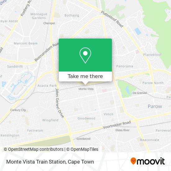 Monte Vista Train Station map