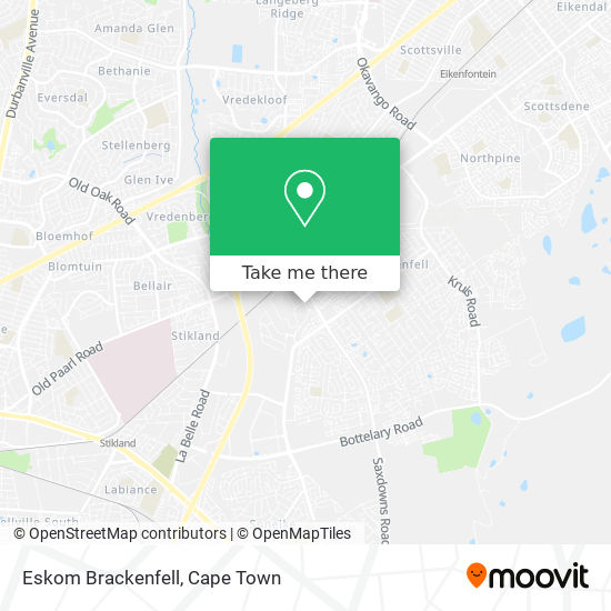Eskom Brackenfell map