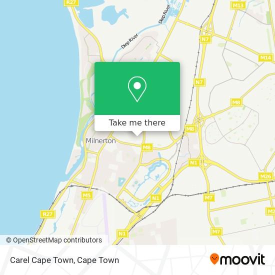 Carel Cape Town map