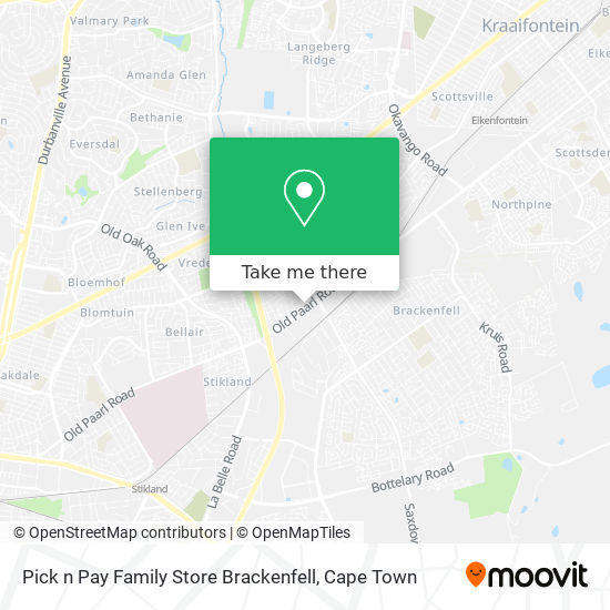 Pick n Pay Family Store Brackenfell map