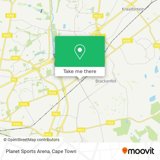 Planet Sports Arena map