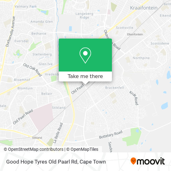 Good Hope Tyres Old Paarl Rd map