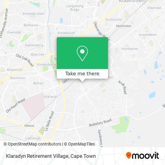 Klaradyn Retirement Village map