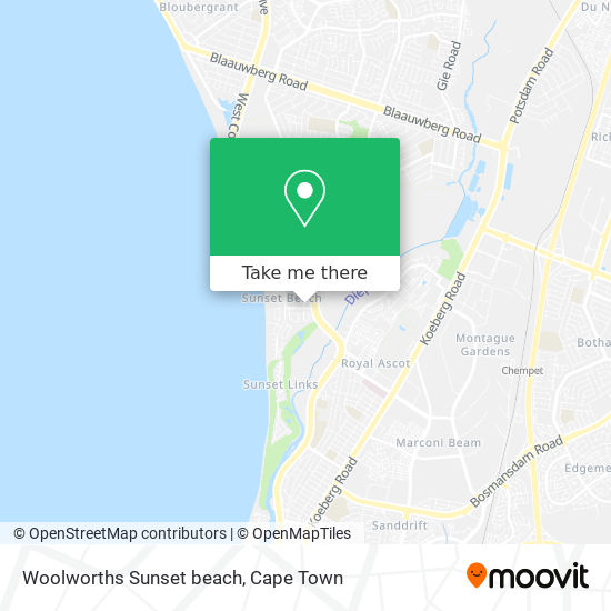 Woolworths Sunset beach map