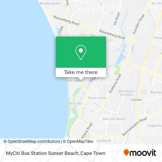 MyCiti Bus Station Sunset Beach map