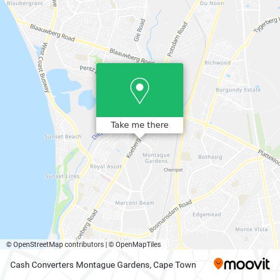 Cash Converters Montague Gardens map