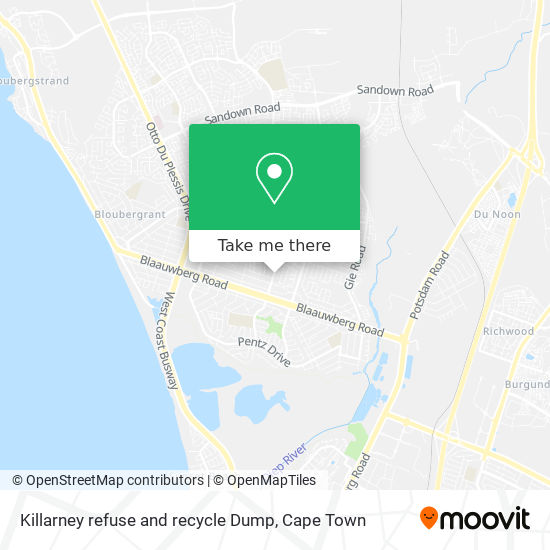 Killarney refuse and recycle Dump map