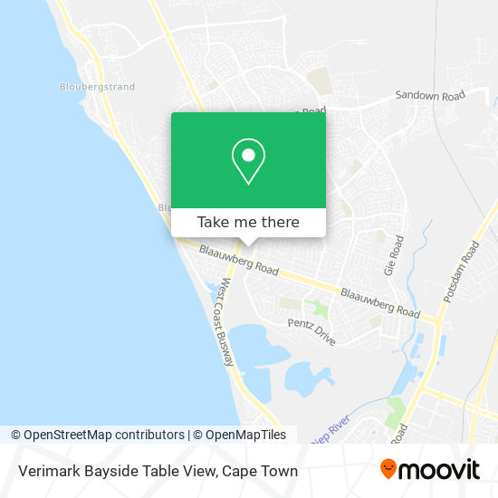 Verimark Bayside Table View map