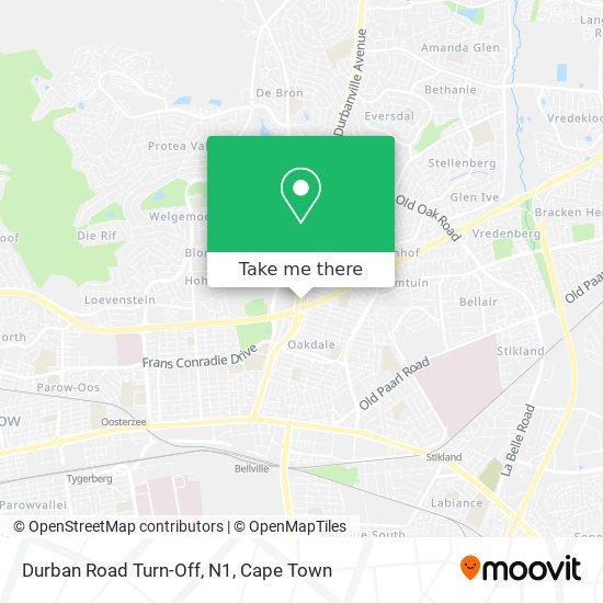 Durban Road Turn-Off, N1 map