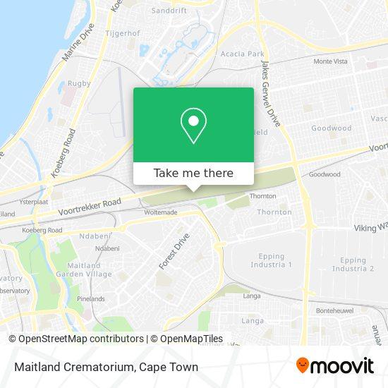 Maitland Crematorium map