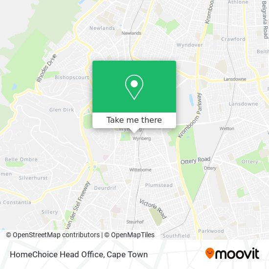 HomeChoice Head Office map