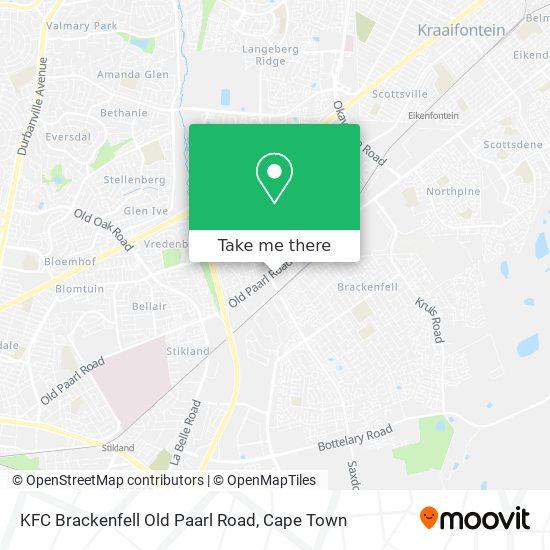 KFC Brackenfell Old Paarl Road map