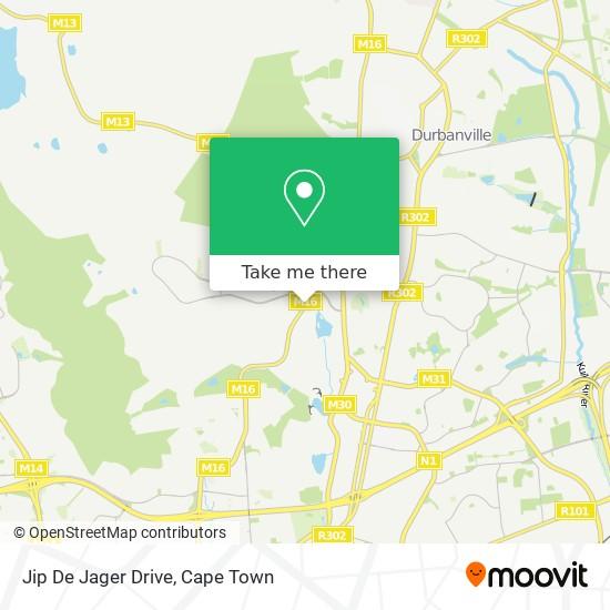 Jip De Jager Drive map