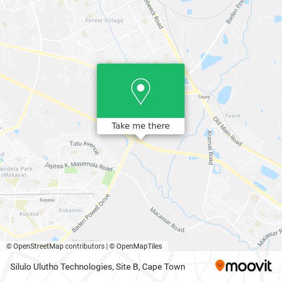 Silulo Ulutho Technologies, Site B map