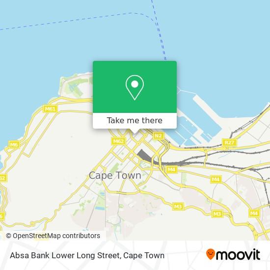 Absa Bank Lower Long Street map