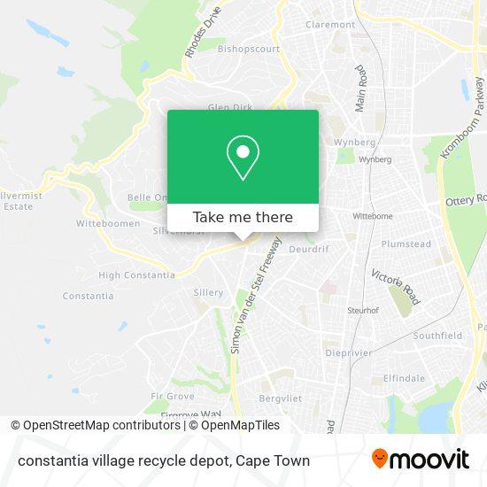 constantia village recycle depot map