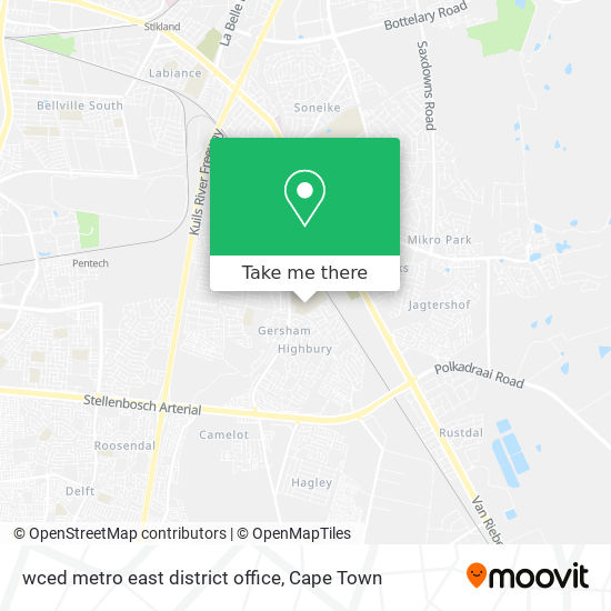 wced metro east district office map