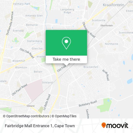 Fairbridge Mall Entrance 1 map