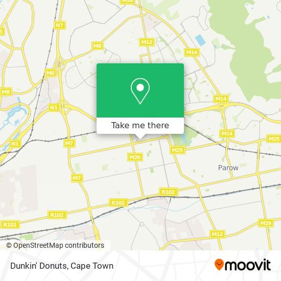 Dunkin' Donuts map