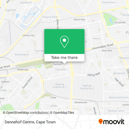 Dennehof Centre map