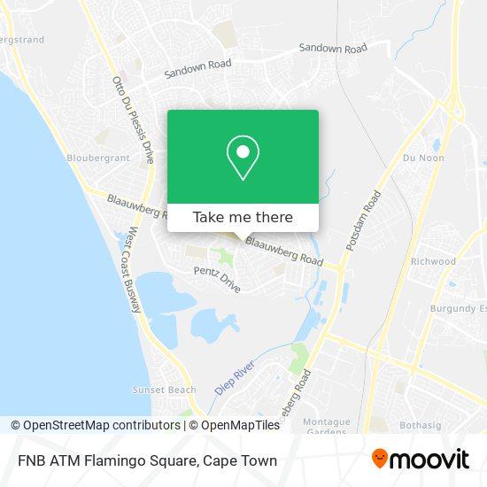 FNB ATM Flamingo Square map