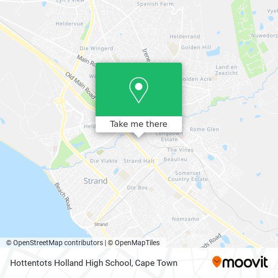 Hottentots Holland High School map