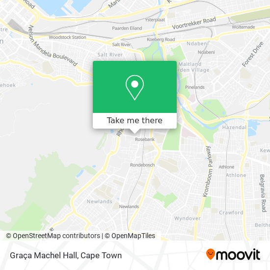 Graça Machel Hall map