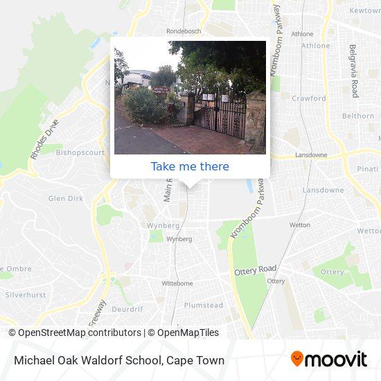 Michael Oak Waldorf School map