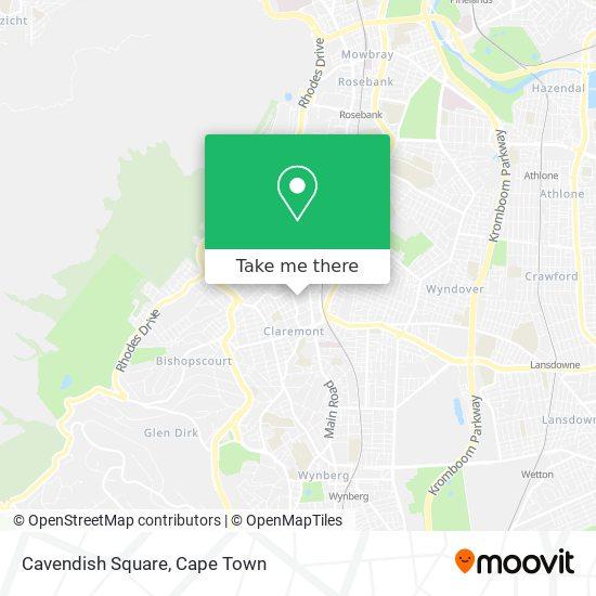 Cavendish Square map