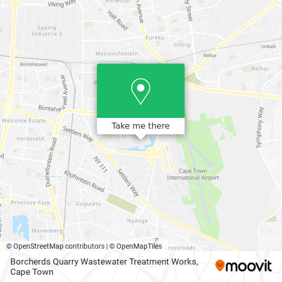 Borcherds Quarry Wastewater Treatment Works map