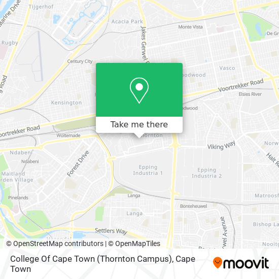 College Of Cape Town (Thornton Campus) map