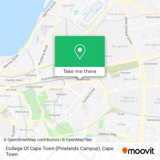 College Of Cape Town (Pinelands Campus) map