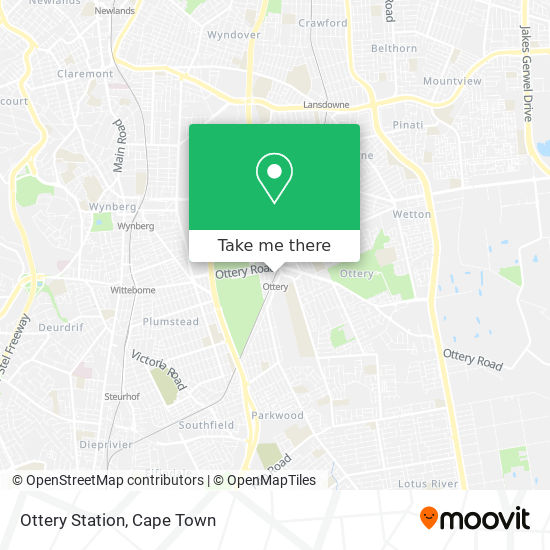 Ottery Station map