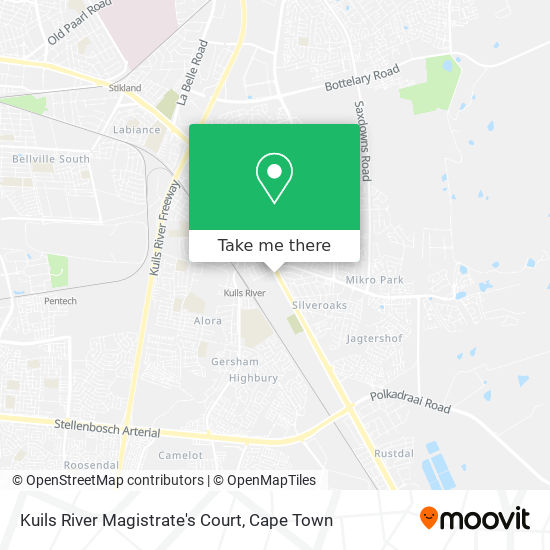 Kuils River Magistrate's Court map