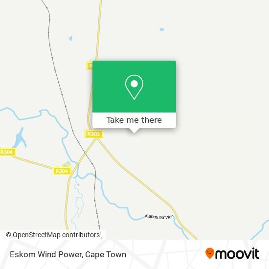 Eskom Wind Power map