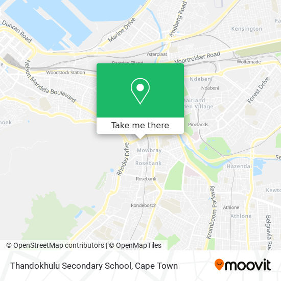 Thandokhulu Secondary School map