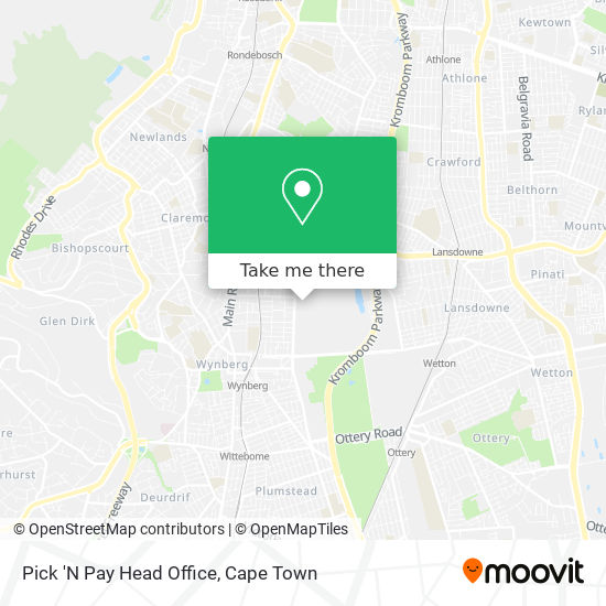 Pick 'N Pay Head Office map