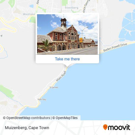 Muizenberg map