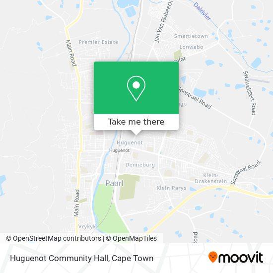 Huguenot Community Hall map